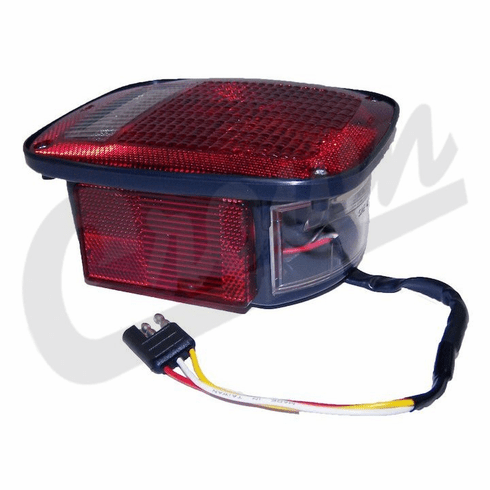 ( 5758255 )  Left Side Tail Lamp Assembly, Black, Fits 1981-86 Jeep CJ5, CJ7 & CJ8 by Preferred Vendor