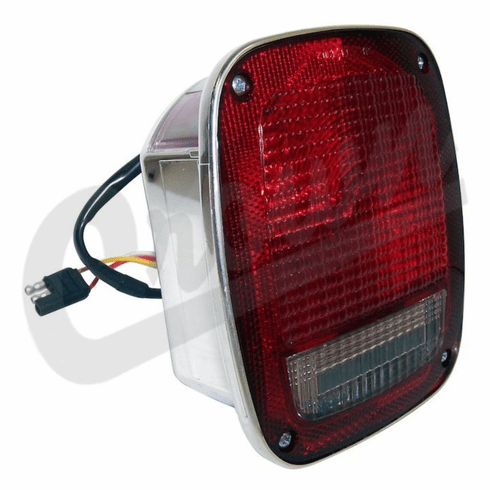 ( 5758255C ) Driver Side Tail Light in Chrome for 1981-86 Jeep CJ Series By Crown Automotive