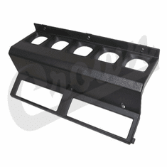 ( 5AD88LTB ) Center Dash Gauge Panel Black Color for 1987-95 Jeep Wrangler YJ By Crown Automotive