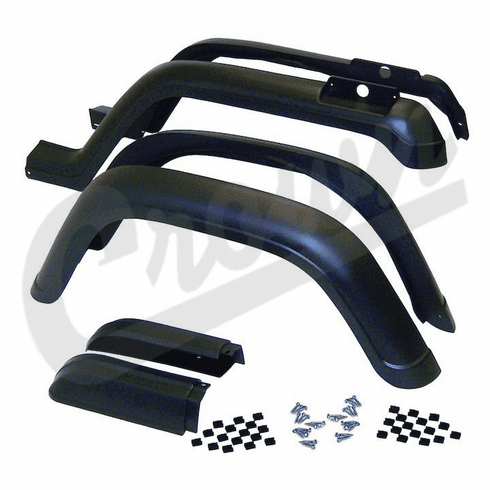 ( 5AHK6 ) 6 Piece Factory Style Fender Flare Kit for 1987-95 Jeep Wrangler YJ By Crown Automotive