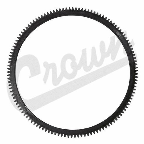 ( 641955 ) Flywheel Ring Gear, 124 Tooth for CJ3A, Willys Pick-Up Truck, Station Wagon, Sedan Delivery & Jeepster by Crown Automotive
