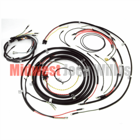 ( 645743 ) Wiring Harness Kit, no Turn Signals, fits 1948-1953 Willys Jeep CJ3A Models by Omix-Ada