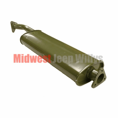 ( 649865 ) Reproduction Muffler with Flanges for 1950-1966 Willys Jeep M38 and M38A1 Models by Preferred Vendor