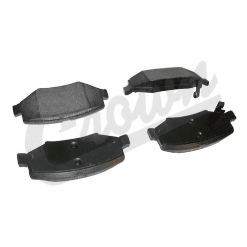 ( 68003776AA ) Rear Disc Brake Pads for 2007-18 Jeep Wrangler JK By Crown Automotive