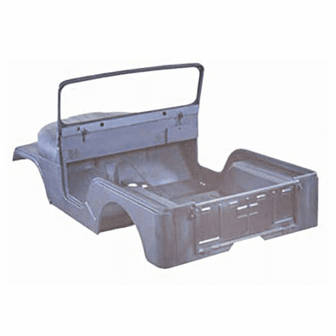 ( 680637KD )  Jeep CJ5 Steel Body Kit, 1972-1975, Body With Fenders, Hood, Windshield, And Tailgate. by Preferred Vendor