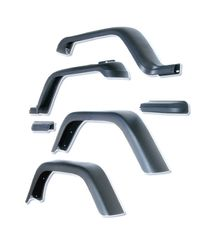 7-Inch Fender Flare Kit, 87-95 Jeep Wrangler by Rugged Ridge