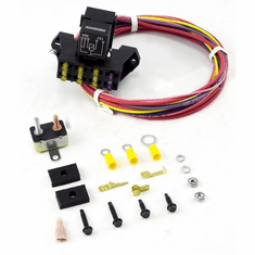 ( 70103 ) Painless Wiring 3 Circuit Fuse Block with Hardware, Universal Jeep Applications