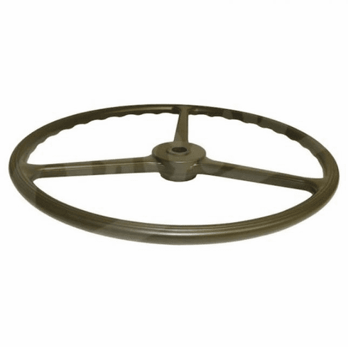 ( 7375336 ) Replacement Steering Wheel, Olive Green Sheller Type, Fits 1941-1945 Willys MB, 1941-1945 Ford GPW by Crown Automotive