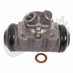 ( 803640 ) Right Side Front Wheel Cylinder, with Angled Hose Connection fits 1960-1971 Jeep CJ3B, CJ5, CJ6 by Crown Automotive
