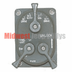 ( 805400 ) Headlight Control Switch, 24 Volt, Fits 1950-1966 Willys M38, M38A1   by Preferred Vendor