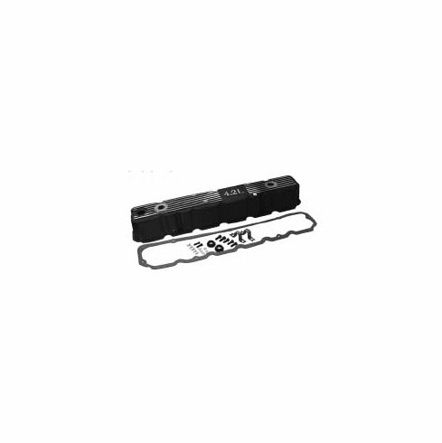 ( 83501398ALB )  Black Painted Aluminum Valve Cover Kit - Black Coated, Fits 1981-1986 CJs W/ 4.2L Engine. ReplACes Plastic Oem Type Valve Cover by Preferred Vendor