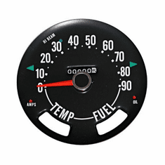( 913373 ) Speedometer Gauge Dial Head w/ Odometer, 0-90 MPH Dial, fits 1955-1979 Jeep CJ Models by Omix-Ada