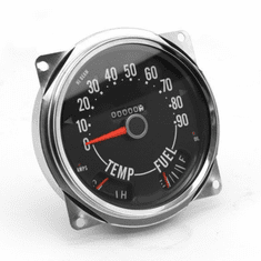 ( 914845 ) Speedometer Cluster Assembly, 0-90 MPH, fits 1955-1979 Jeep CJ3B, CJ5, CJ6, CJ7 Models  by Omix-Ada