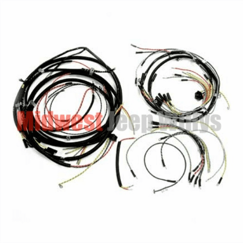 ( 925159 ) Complete Cloth Covered Wiring Harness Kit for 1957-1965 Willys Jeep CJ5 Models by Omix-Ada