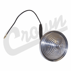 ( 945659 ) Backup Light Assembly, Includes Lens, Bulb and Wiring Pigtail, Left or Right, 1945-75 CJ2A, CJ3A, CJ3B, CJ5, CJ6 by Crown Automotive