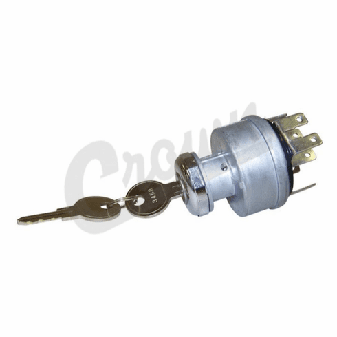 ( 947399 ) Ignition Switch, Plug In Terminals, Fits 1965-1973 Jeep CJ5, CJ6 Models by Crown Automotive