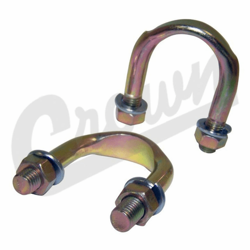 ( A-490K ) Universal Joint U-Bolt Kit, Fits Most Willys and Jeep Applications from 1941-1986 by Crown Automotive