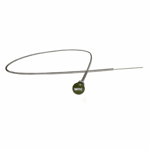 ( A-5106 ) Throttle Cable Assembly Fits Willys Military MB, GPW, M38, M38A1 with Olive Green Knob by Omix-Ada