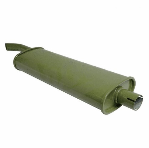 ( A-6118 ) Reproduction Oval Style Muffler for 1941-1945 Willys Jeep MB and Ford GPW by Preferred Vendor
