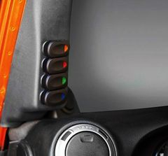 Driver Side A-Pillar Switch Pod Kit, Black, 2007-10 Jeep Wrangler by Rugged Ridge