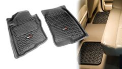 ( 8298780 ) All Terrain Floor Liners, Four Piece, Black, Rugged Ridge, Nissan Xterra 2005-2011, Pathfinder 2005-2011, Includes first and second row liners.