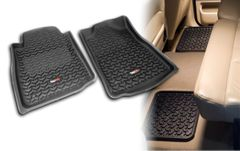 All Terrain Floor Liners, Four Piece, Black, Rugged Ridge, Toyota Tundra 2007-2011 Regular Cab, Double Cab and CrewMax, Includes first and second row liners.    82987.61