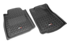 All Terrain Floor Liners, Front Pair, Black, Rugged Ridge, Toyota Tundra 2007-2011 Regular Cab, Double Cab and CrewMax     82904.20