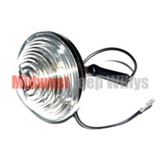 Backup Light Assembly, Includes Lens, Bulb and Wiring Pigtail, Left or Right, 1945-75 CJ2A, CJ3A, CJ3B, CJ5, CJ6
