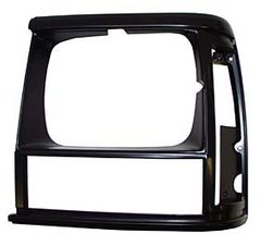 Bezel, Headlamp, Left, Black/Black, 1991-92 Cherokee XJ