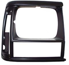 Bezel, Headlamp, Right, Black/Black, 1991-92 Cherokee XJ
