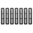 ( 1140103 ) Billet Grille Inserts, Black, 97-06 Jeep Wrangler by Rugged Ridge