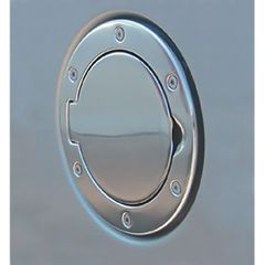 ( 1142501 ) Non-Locking Gas Cap Door, Polished Aluminum, 97-06 Jeep Wrangler by Rugged Ridge