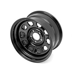 Black D-Window Wheel, 17 inch X 9 inches, 5 x 5-inch bolt pattern by Rugged Ridge