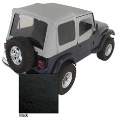 XHD Soft Top, Black, Clear Windows, 88-95 Jeep Wrangler by Rugged Ridge