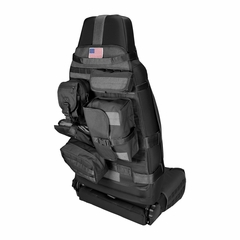 Black Front Cargo Seat Cover, fits 1976-2017 Jeep CJ and Wrangler YJ, TJ, JK Models