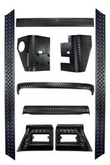 ( 1165060 ) 9-Piece Body Armor Kit, 97-06 Jeep Wrangler by Rugged Ridge