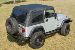 Bowless XHD Soft Top, Black Diamond, 97-06 Jeep Wrangler by Rugged Ridge