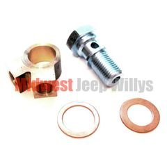 Brake Master Cylinder Y-Fitting and Bolt Kit for 1941-71 Willys and Jeep Models