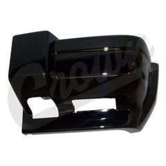 ( 5DY01DX8AB ) Drivers Side Front Bumper End Cap Gloss Black for 1997-01 Jeep Cherokee XJ By Crown Automotive
