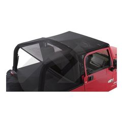 RT Off-Road Black Mesh Combo Beach Topper for 2007-2016 Jeep Wrangler JK 2 Door