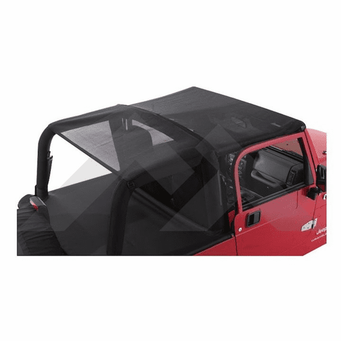( CB30011 ) Black Mesh Combo Beach Topper for 2007-2018 Jeep Wrangler JK 2 Door by RT Off-Road