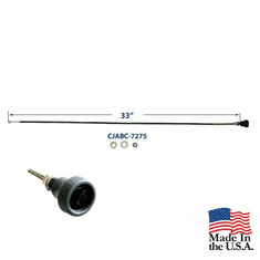 "( CJABC-7275 ) Air Box Cable or Heater Air Cable for 1972-1975 Jeep CJ. Replaces 989934. 33"" long  by MTS"