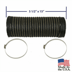 ( CJABFAH-1 ) Fresh Air Hose for Air Box, fits 1972-1986 CJ5, CJ5, CJ7 & CJ8 by MTS
