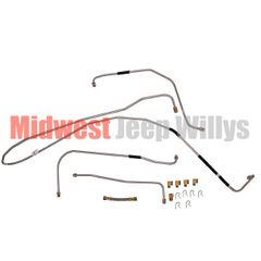 Steel Fuel Line Kit, Fits 1941-1944 Willys Jeep MB and Ford GPW