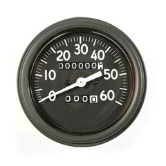 Speedometer Assembly, Long Style Needle, 0-60 MPH Fits 1941-43 Willys MB, Ford GPW
