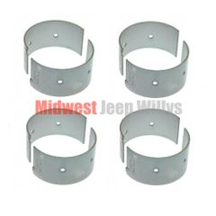 Connecting Rod Bearing Set (set of 4)  .020 Under size, L-134 & F-134  Fits 1941-71 MB, GPW, M38, M38A1, Willys & Jeep CJ