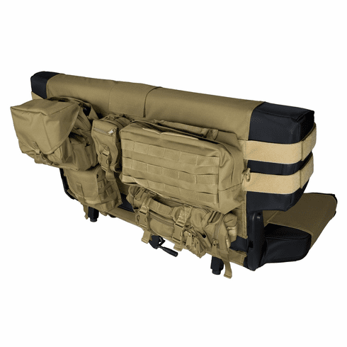 ( COVD )  Tan Rear Cargo Seat Cover, Fits 1976-2006 Jeep CJ And Wrangler YJ, TJ Models by Preferred Vendor