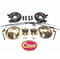 ( D35DISC )  Disc Brake Conversion Kit, Fits 1997-06 TJ Wrangler, 1993-98 ZJ Grand Cherokee With A Dana 35 Rear Axle From Drum Brakes To Disc Brakes. by Preferred Vendor