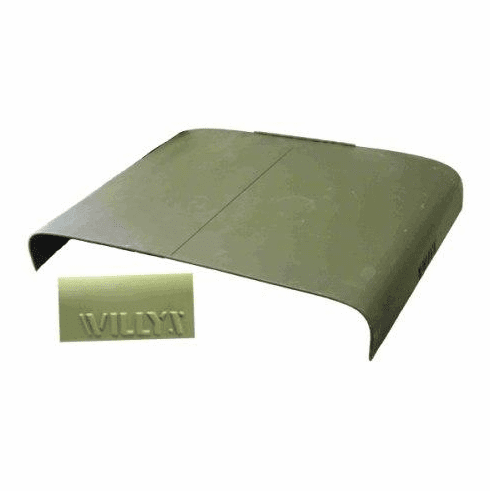 ( DMC-681334 ) Replacement Hood with Willys Script, 1953-1964 CJ3B by Omix-Ada