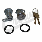 ( 8122874K2 ) Door Cylinder Kit, fits 1976-84 Jeep CJ, 1987-90 Wrangler YJ w/ Full Doors, 1984-90 Cherokee XJ By Crown Automotive